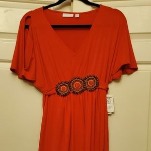 New york and company dress tie back nwt